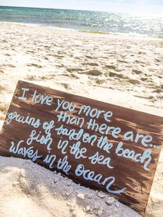 I love you more than Beach Quote Painting by SillyGooseCrafts