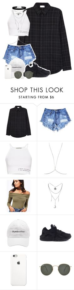 """""""🙋🌸"""" by rozzfashion ❤ liked on Polyvore featuring John Elliott, Pull&Bear, Miss Selfridge, NIKE and Ray-Ban"""