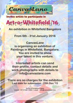 Bangalore based Art Exhibition Invitation