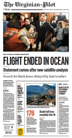 The Virginian-Pilot's front page for Tuesday, March 25, 2014.