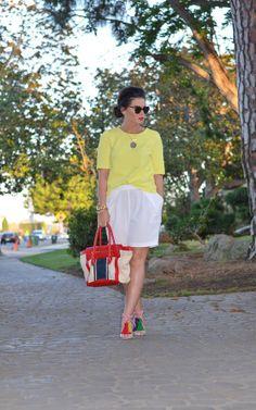 ::mellow yello::  ASOS Textured Top, Bermuda shorts, Marrin Costello, Cara's Cliche