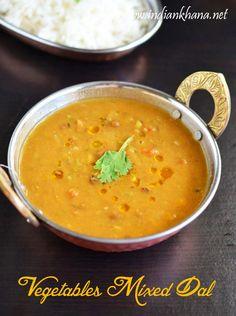 Indian Khana: Mixed Vegetables Dal Recipe | Subzi Dal | Dal Reci...
