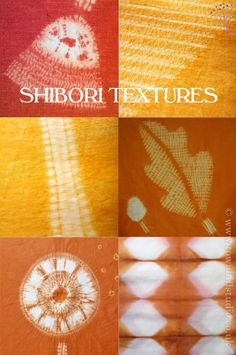 A collection of shibori textures by Townhill Studio created with a number of different shibori stitch resist techniques and fibre reactive dyes. Many of these designs are outlined and described in the blog written by Annabel Wilson.
