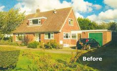 A bungalow has been transformed in to a modern, open plan home with a contemporary remodel and extension Dormer House, Dormer Bungalow, Bungalow Extension Plans, Bungalow Conversion, Loft Conversions, Bungalow Renovation, Bungalow Ideas, Garage Renovation, House Renovations