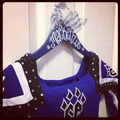 custom painted hangers for CHEER squads and competitions, DANCE teams, POM squads, or drill teams. $12.00, via Etsy.