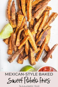If you haven't tried sweet potatoes seasoned with cumin yet, you are missing out. These Mexican-Style Baked Sweet Potato Fries are flavorful, so easy, and a perfect healthy side dish for just about any meal! #sweetpotatoes #sweetpotatofries #fries #sidedishes
