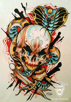 ✯ A king Cobra, and some Charred Bones :: Hallelujah :: Artist David Tevenal✯