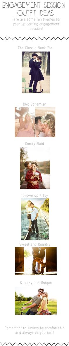 Engagement session Outfit ideas!