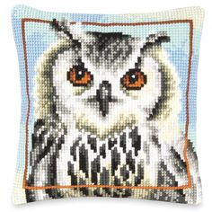 Owl Portrait - Cross Stitch, Needlepoint, Embroidery Kits – Tools and Supplies
