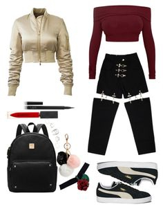 """Untitled #8"" by victoriamikkelsen ❤ liked on Polyvore featuring M.Y.O.B., Puma, GUESS, Burberry and NARS Cosmetics"