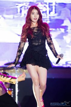 Top 10 Sexiest Outfits Of IU - Black lace dress with see through arms and stomach. Korean Women, Korean Girl, Sexy Outfits, Sexy Posen, Pretty Black Dresses, Queen Dress, Asian Celebrities, Iu Fashion, Soyeon
