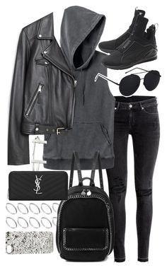 """""""Untitled #19743"""" by florencia95 ❤ liked on Polyvore featuring H&M, RVCA, Zara, ASOS, French Connection, STELLA McCARTNEY, Yves Saint Laurent and Marc by Marc Jacobs"""
