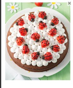 Children's birthday cakes from healthy to fancy: 4 ingenious recipes - Kuchen // Dessert-Rezepte - Kuchen Food Cakes, Delicious Cake Recipes, Yummy Cakes, Chocolate And Vanilla Cake, Ganache Recipe, Baked Strawberries, Little Cakes, Frosting Recipes, Coffee Cake