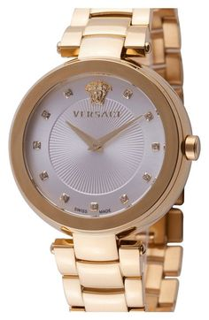 Versace 'Mystique' Diamond Index Bracelet Watch, 38mm (Nordstrom Exclusive) available at #Nordstrom