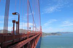 Biking across the San Francisco Golden Gate Bridge