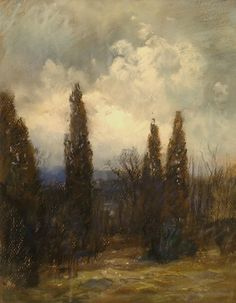 Great depth, color and mood in Storm Coming by Clarence Scott White, 14x11 Pastel