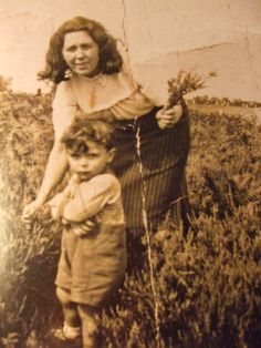 Little boy Tony with his Mom! We remember and thank Mrs. Sylvie Maria Iommi…