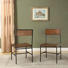 Fletcher Dining Side Chairs - Warm Chestnut - Set of 2