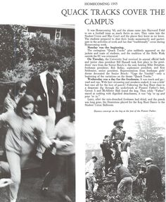 Recap of 1965 homecoming festivities. From the 1966 Oregana (University of Oregon yearbook). www.CampusAttic.com