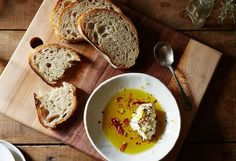 Nancy Silverton's Small, Smart Steps Turn a Basic Appetizer Into Jewels  The first thing Los Angeles restaurant legend Nancy Silverton does when she gets to her home in Umbria, Italy, is make a batch of pesto and a batch of these olives.  Let aromatics open up in oil over heat.  [...] Nancy, whose new book is Mozza at Home, brings attention and grace to a dish you might not think needs it (after all, she did the same to whipped cream and bran muffins).  Nancy Silverton's Whipped Cream…