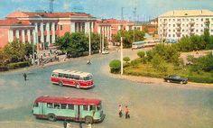 Курган, Привокзальная площадь. 1960-е Arrow Of Time