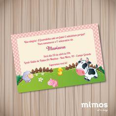 Convite Digital - Fazendinha Rosa