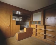 "Interior of Adolf Loos' ""Villa Muller"", built 1930."