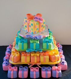 Mini Gift Boxes cake tower