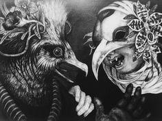 "On instagram by sunriseartgalleryandarcade #arcade #microhobbit (o) http://ift.tt/1Vg7HwS : ""RUMOR"" Artist : Maiko Kitagawa Medium : Oil Pencil on Paper Mounted on Wood Panel Size : 32.2x45.2cm Year : 2013 #arts #fineart #visualart #drawings #animal #oilpencils #paper #wood #panels #japaneseartis #maiko #kitagawamaiko #sunriseartgalleryandarcade #gallery  #sunrise #Fairmont #Jakarta #Indonesia"