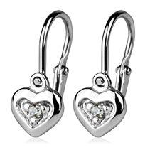 Dětské náušnice stříbrné - srdíčka, čiré zirkony Heart Ring, Rings, Jewelry, Jewlery, Jewerly, Ring, Schmuck, Heart Rings, Jewelry Rings