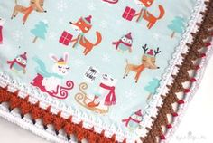 Fox and Reindeer Crochet Edging