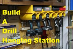 In this video Andy Glass with Glass Impressions remakes his drill/driver hanging station with a few storage upgrades! Please smash that like button, share, a...