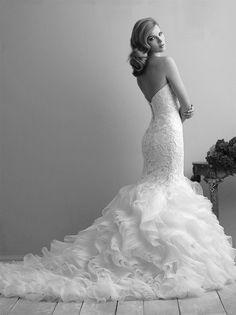 59921-9254B Wedding Gown Sizes, Wedding Gowns, Vows Bridal, Allure Bridal, Discount Designer, Bridal Collection, Ruffles, Stylists, Bride