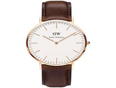 This is a restrained, handsome men's watch from Daniel Wellington. The Men's 0109DW Classic Sheffield features a high quality brown leather strap, an eggshell dial face and a rose stainless steel case. The dial face features reserved hour markers.  This an elegant timepiece, appropriate no matter the occasion.  Brand Daniel Wellington  Dimensions Case widht: 36mm  Face Shape Round…