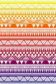 rainbow & white tribal print wallpaper ♥♥
