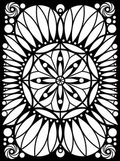 From: Out of This World Circular Designs Stained Glass Coloring Book by Dover Publications