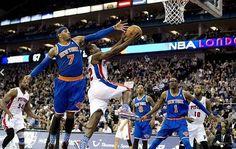 Londra'da NBA maçı! Knicks Pistons'a acımadı