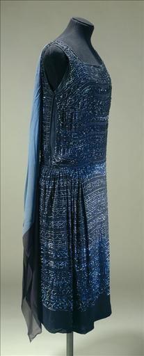 Evening dress, c. 1923, at the Galliera musée de la Mode de la Ville de Paris, via Musée de France