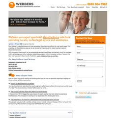 Corporate Website Home Page for Webbers Solicitors  - #webdesign #design #digital #marketing #corporate #legal