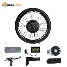"Passion 48V 1500W Motor Bicicleta Electric Bicycle Bike Conversion Kit for 20""…"