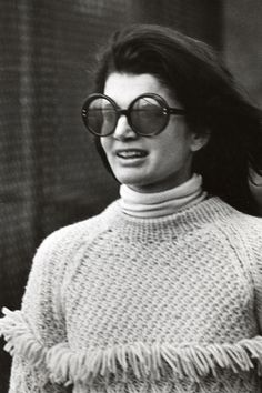 October 6, 1969.  Jackie at La Cote Basque Restaurant in New York City.