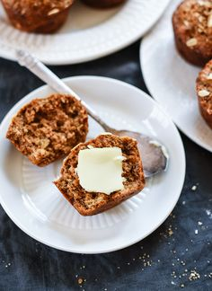 Healthy whole wheat banana muffins - cookieandkate.com