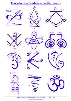Reiki Symbols Meaning, Spiritual Symbols, Simbolos Reiki Karuna, 7 Chakras Meditation, Simbolos Do Reiki, Sigil Magic, Yoga Mantras, Mudras, Reiki Energy