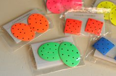 80s jewelry | Vintage 80s Neon Earrings Geometric Orange Pink Squares with Dots Fun ...
