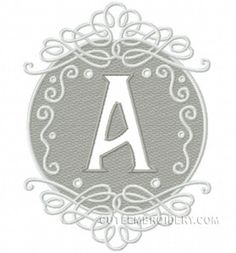Free Embroidery Design: Letter A - I Sew Free