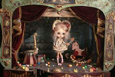 """Prudence arrived to the Circus   The Tale of """"Le Cirque des Curiosités"""" by Rebeca Cano ~ Cookie dolls www.facebook.com/... Find it in the 4th issue of Tiny Feet issuu.com/... © All rights reserved"""