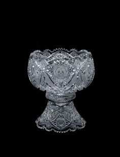 Punch Bowl by Elmira Cut Glass Company, 1900-1910. | Corning Museum of Glass #glass #Crystal City #bowl