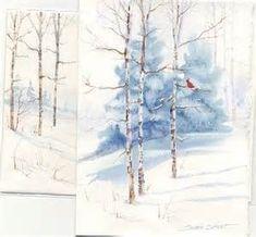 winter watercolor wonderlands | Watercolor ideas | Pinterest | Aquarelles, Cartes De Noël et Shorts