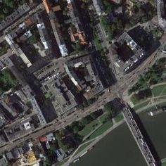 Mapa satelitarna miejscowości Kraków (Kraków-Krowodrza), Zdjęcia satelitarne Kraków (Kraków-Krowodrza)