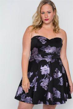 Khanomak Womens V Neck Flounce Skirt Overlay Pleated Detail Floral Print Romper